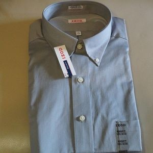 IZOD - Gray Long Sleeve Dress Shirt